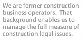 experienced construction attorney